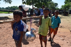 Water collection by refugees, Jatimura camp, Taknaf