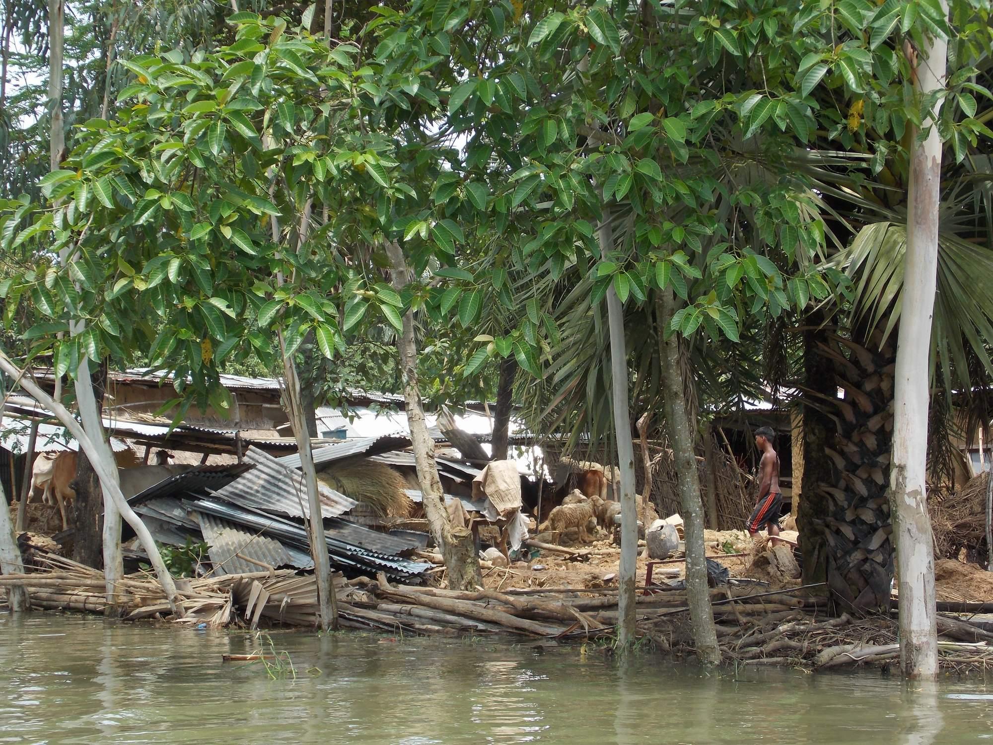 A adivasi village damaged earth house001